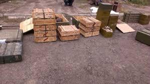 Обнаружен один из крупнейших тайников оружия и боеприпасов за время проведения АТО