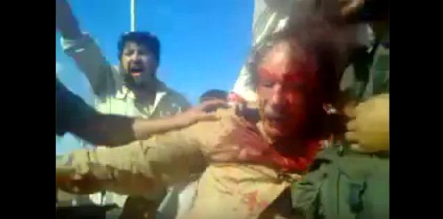 Последние минуты жизни Каддафи 18+