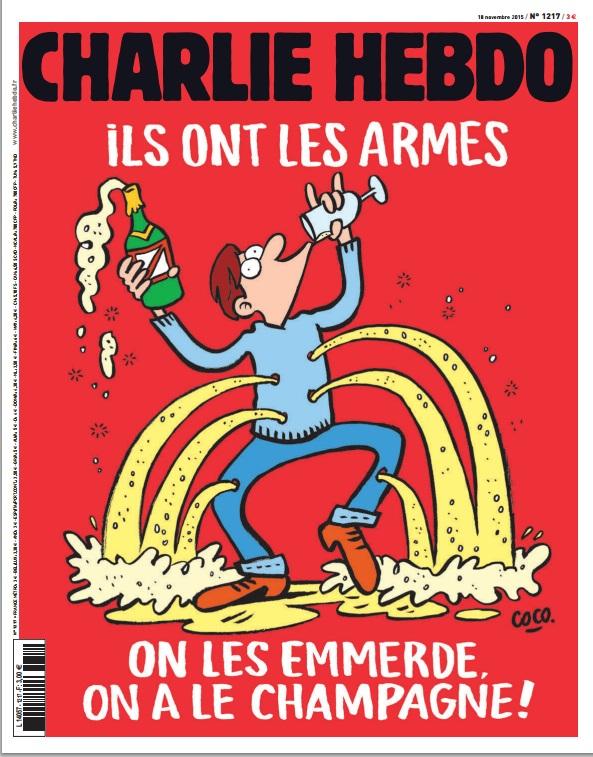 Опубликованы новые карикатуры Charlie Hebdo на теракты в Париже