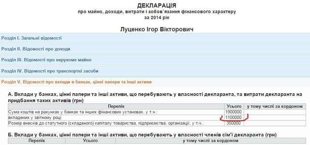 Скандал в Раде: разоблачена ложь Луценко о миллионных доходах