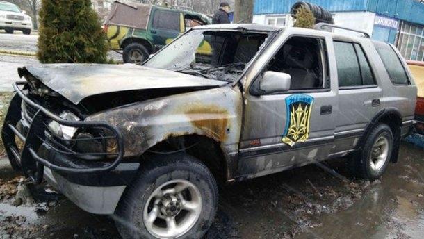 У Харкові підпалили позашляховики «Айдару»