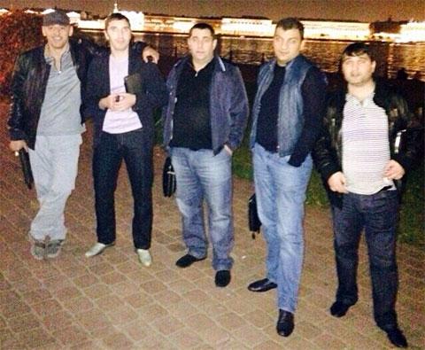 Слева воры в законе: Хусейн Ахмадов (Хусейн Слепой), Малхаз Котуа (Махо Питерский), Ара Мурадян (Ара Армавирский) и Шалва Озманов (Кусо Тбилисский)