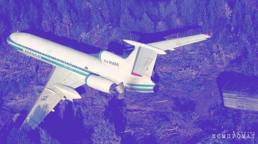 Ту-154, приземлившийся в Ижме