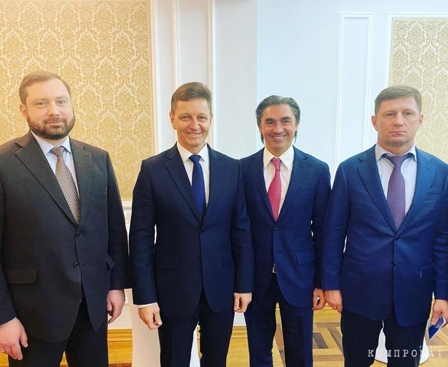 Свинцов в окружении трёх губернаторов из ЛДПР — Островского, Сипягина и Фургала