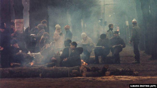 Последние месяцы советской империи: баррикады в центре Риги, 20 января 1991 года