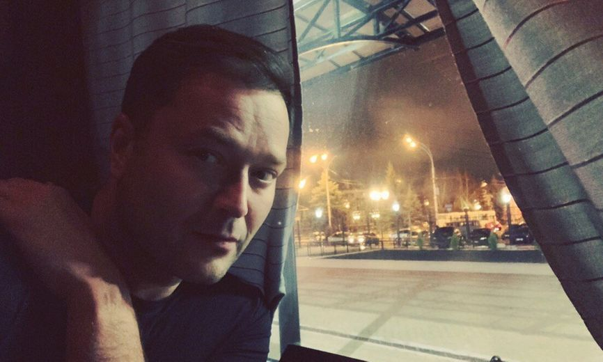 Никита Исаев, селфи из того самого поезда