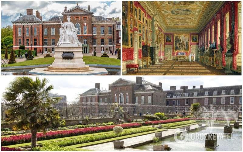 Вид на Кенсингтонский дворец с разных сторон.