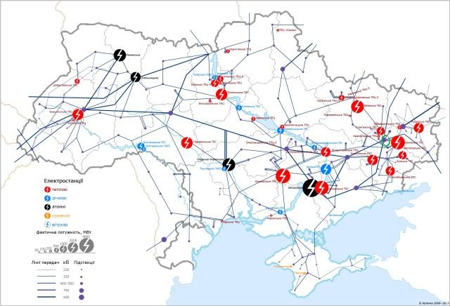 карта подстанций