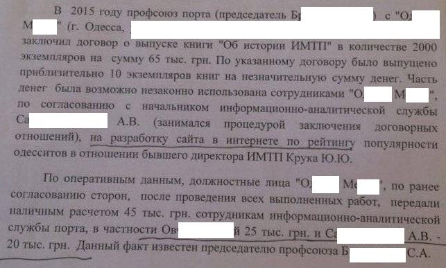 Докладная записка.