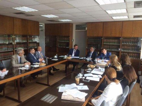 А. Грановский и Ю. Луценко на встрече с Генпрокурором Кипра