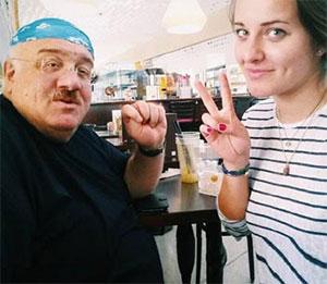 Каха Бендукидзе с дочерью Анастасией Гончаровой