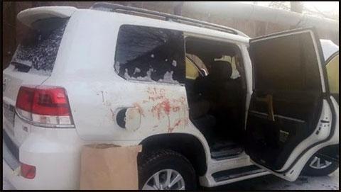 Машина Дениса Чернова после убийства