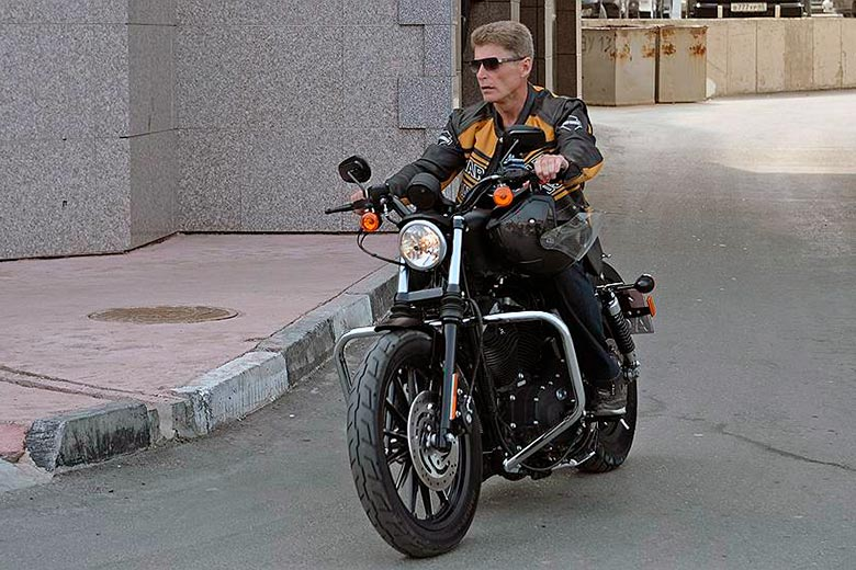 Олег Кожемяко на мотоцикле