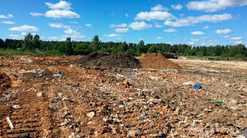 В Щелковском районе незаконно организовали сразу две свалки