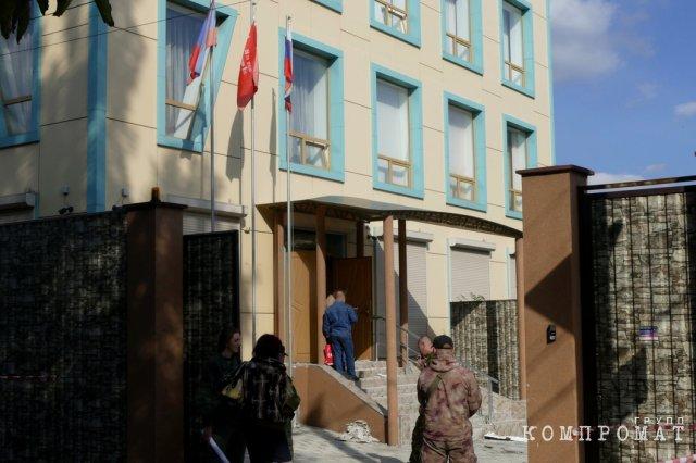 Офис компартии после взрыва
